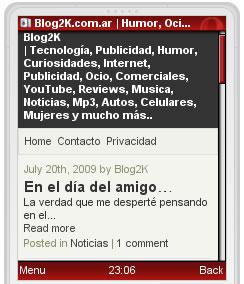 Blog2k Mobile - Home